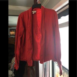 Red/orange cardigan